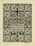 Ex libris voor A.G. Verster van Nieuwkuyk, ontwerp: Theo Neuhuys (1899)