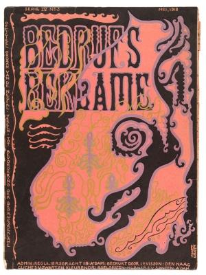 De Bedrijfsreklame, mei 1918, omslagontwerp: Lambertus Zwiers, Amsterdamse School