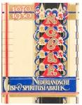 Gedenkboek Nederlandsche Gist- & spiritusfabriek, omslagontwerp: Bernard Romein, Amsterdamse School