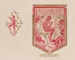 Proefdruk omslag programmaboekje Concertgebouw Amsterdam, ontwerp: Richard Roland Holst (1918)