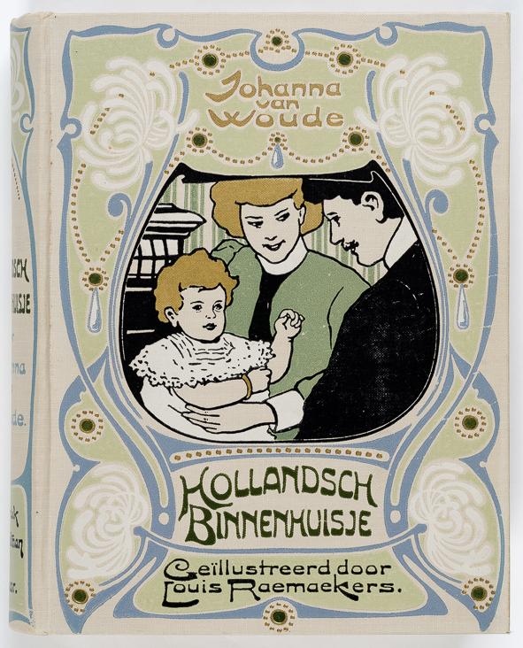 art nouveau boekband Hollandsch Binnenhuisje ontwerp Louis Raemaekers