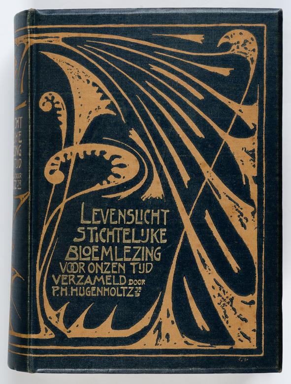 art nouveau boekband titel Levenslicht ontwerper Gustaaf van de Wall Perné 1901