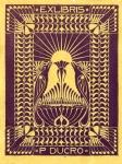Ex libris voor Piet Ducro, ontwerp: Chris Lebeau (ca. 1910)