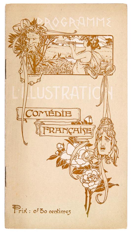 Programme l'illustration Comédie Française, art nouveau omslagontwerp: Adolphe Cossard (1903)