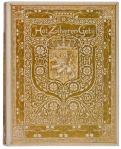 perkamenten boekband met goudopdruk Het Zilveren Getij ontwerp: Theo Nieuwenhuis