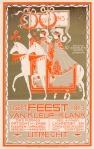 Briefkaart - Feest van kleur en klank - Atelier Koninklijke Begeer Utrecht, ontwerp: Chris van der Hoef (1913)