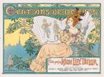 jugendstil art nouveau brochure - Cent ans de modes, omslagontwerp: Henri Thiriet (1899)