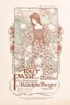 art nouveau jugendstil muziekblad - Tout passe... (ca. 1902), ontwerp: Richard Barabandy