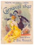 art nouveau jugendstil programma Théatre National de l'Opera - Carnaval 1892, omslagontwerp: Jules Chéret