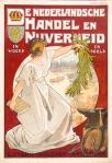 art nouveau omslag De Nederlandsche Handel en Nijverheid in woord en beeld, ontwerp Johann Georg van Caspel (1900)