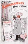 jugendstil art nouveau programmaboekje Ambassadeurs Champs-Elysées Paris, omslagontwerp: Chenet (1914)