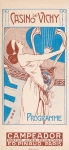 jugendstil art nouveau omslag programma - Casino de Vichy (1910)
