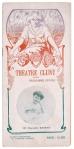 art nouveau programmaboekje Théatre Cluny, omslagontwerp: Paolo Guglielmi (ca. 1900)
