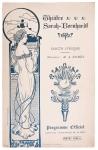 art nouveau programmaboekje Théâtre Sarah Bernardt, omslagontwerp: Paolo Guglielmi (ca. 1900)