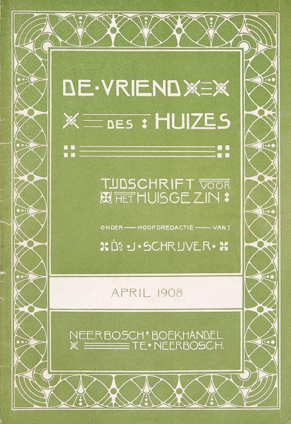 De vriend des huizes, omslagontwerp: August van Kempen (1908)