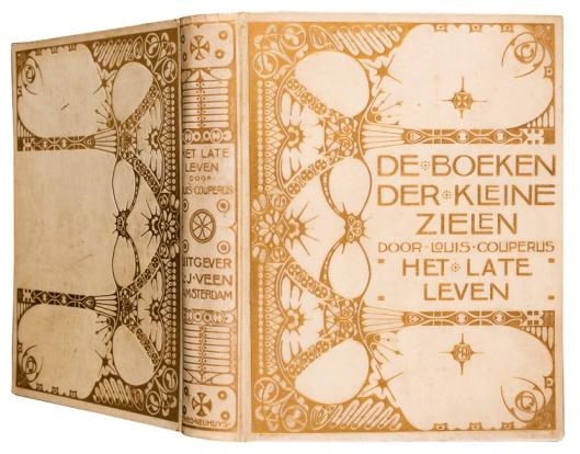 perkamenten boekband met goudopdruk De boeken der kleine zielen door Louis Couperus bandontwerp Theo Neuhuys
