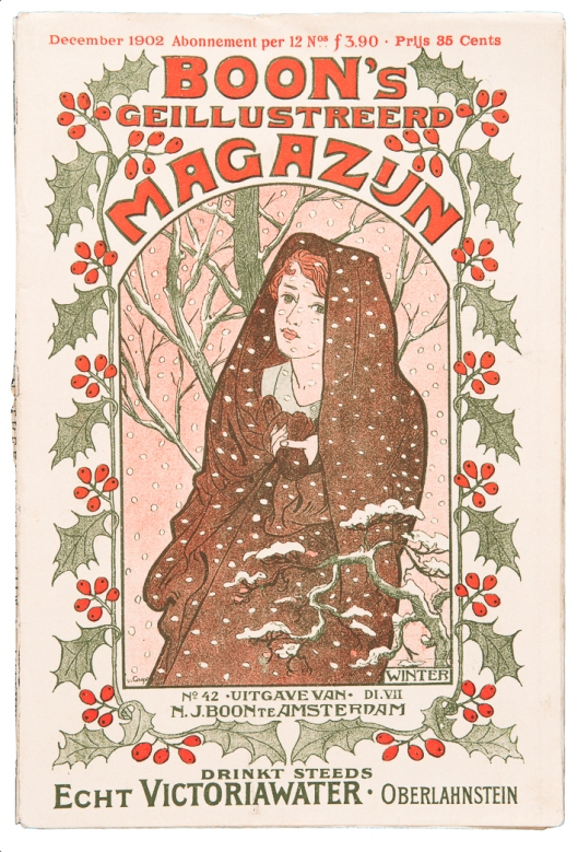 Boon's Geïllustreerd Magazijn (winternummer), omslagontwerp: Johann Georg van Caspel (1902)