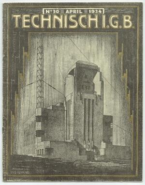 Technisch I.G.B. 1934 omslagontwerp: Louis Heijmans Amsterdamse School