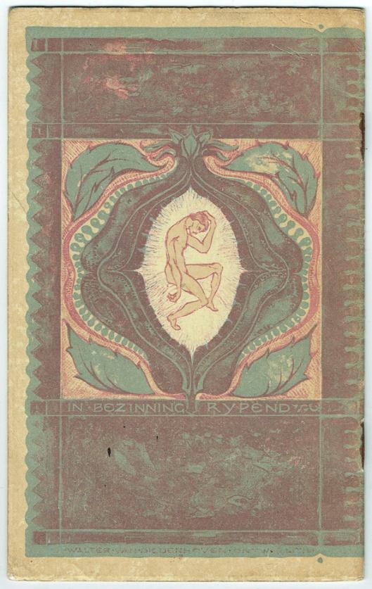 Prospectus voor de bouwkunst opleiding van Architectura et Amicitia, omslagontwerp: Walter van Diedenhoven (1912)